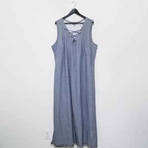 Jessica London Striped Maxi Dress w Criss Cross